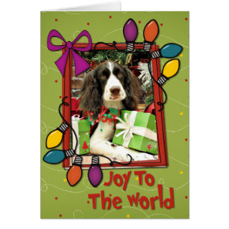 Christmas - English Springer Spaniel - Kinzie Greeting Card