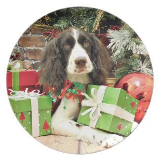 Christmas - English Springer Spaniel - Kinzie Party Plates
