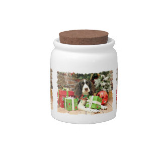 Christmas - English Springer Spaniel - Kinzie Candy Jar