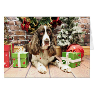 Christmas - English Springer Spaniel - Logan Card