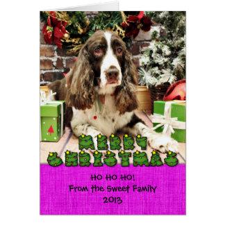 Christmas - English Springer Spaniel - Logan Greeting Cards