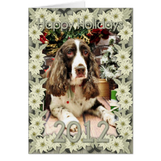 Christmas - English Springer Spaniel - Logan Greeting Card