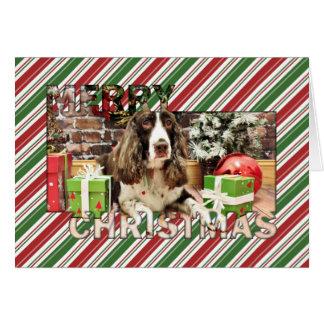 Christmas - English Springer Spaniel - Logan Card