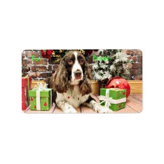 Christmas - English Springer Spaniel - Logan Address Label