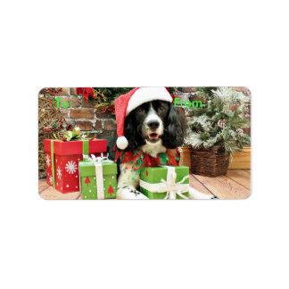 Christmas - English Springer Spaniel - Lucy Address Label