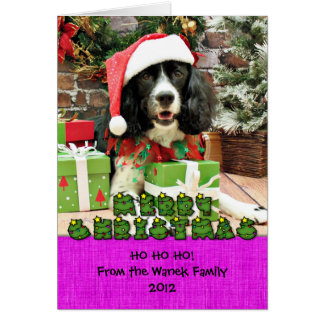 Christmas - English Springer Spaniel - Lucy Card