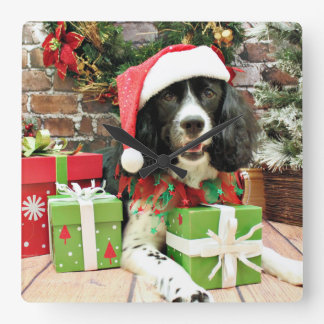Christmas - English Springer Spaniel - Lucy Clock