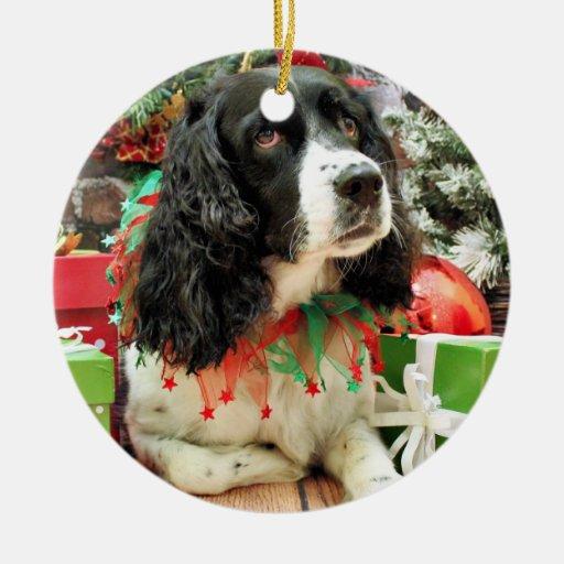 Christmas - English Springer Spaniel - Lucy Ornament