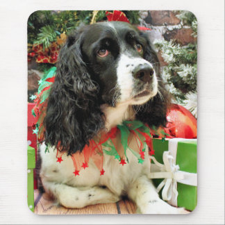 Christmas - English Springer Spaniel - Lucy Mouse Pad