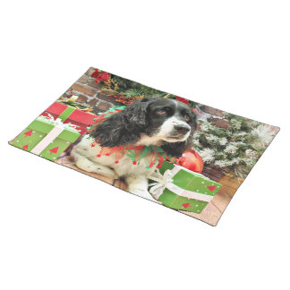 Christmas - English Springer Spaniel - Lucy Placemats