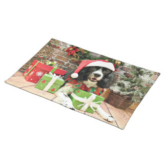 Christmas - English Springer Spaniel - Lucy Place Mat