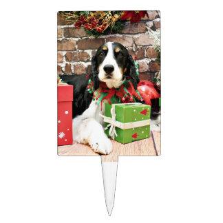 Christmas - English Springer Spaniel - Mac Rectangle Cake Toppers
