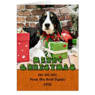 Christmas - English Springer Spaniel - Mac Stationery Note Card