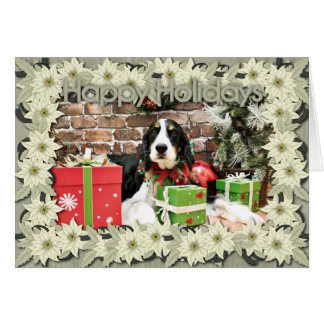 Christmas - English Springer Spaniel - Mac Greeting Card