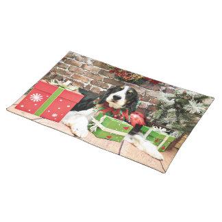 Christmas - English Springer Spaniel - Mac Place Mat