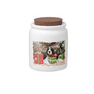 Christmas - English Springer Spaniel - Mac Candy Jars
