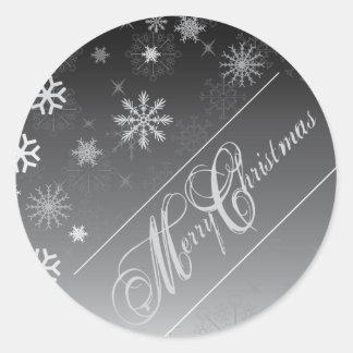 Christmas Envelope Seal Round Sticker