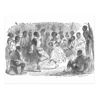 Christmas Eve Festivities on a Louisiana Estate Postcard