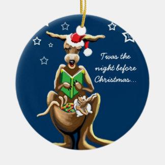 Christmas Eve in Australia Round Ceramic Decoration