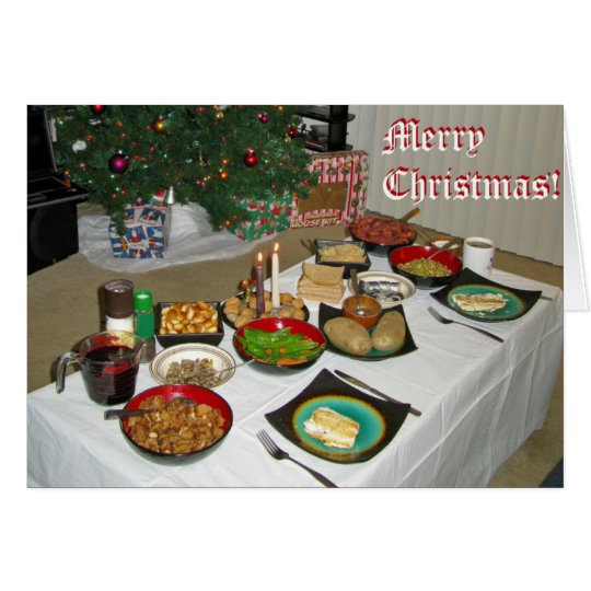 Christmas Eve Lithuanian style Card