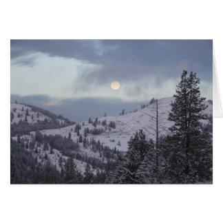 Christmas Eve Moon Greeting Card