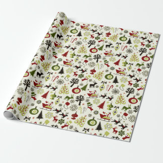 Christmas Eve Pattern Wrapping Paper