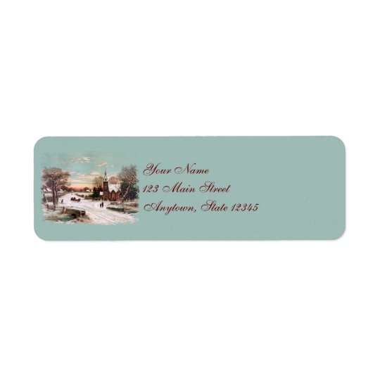 Christmas Eve  Return Address Labels