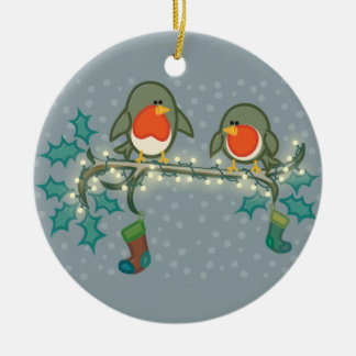 Christmas Eve Robins Christmas Ornament