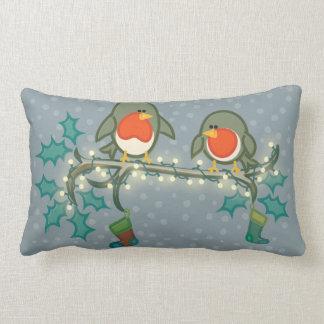 Christmas Eve Robins Lumbar Cushion