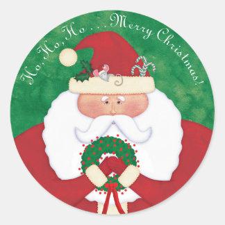 Christmas Eve Santa Classic Round Sticker