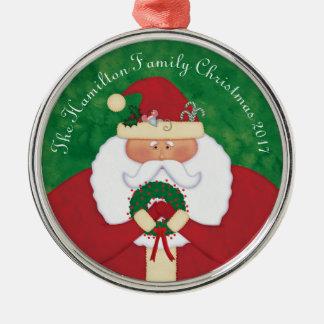 Christmas Eve Santa Personalized Christmas Ornament
