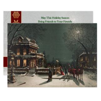 Christmas Eve Sleigh Ride Customized Christmas Card
