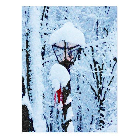 Christmas Eve Snowfall Postcard