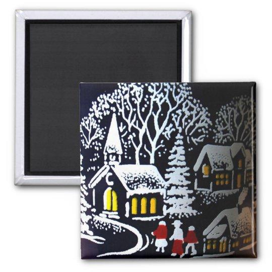 Christmas Eve Square Magnet
