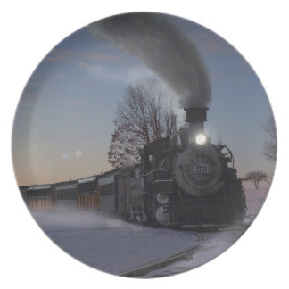 Christmas Eve Train Plate