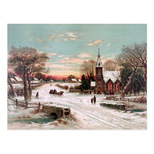 Christmas Eve Vintage Postcard