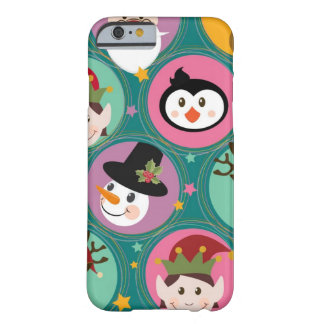 Christmas faces pattern barely there iPhone 6 case