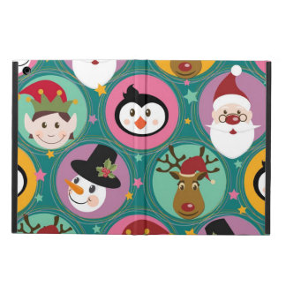 Christmas faces pattern case for iPad air