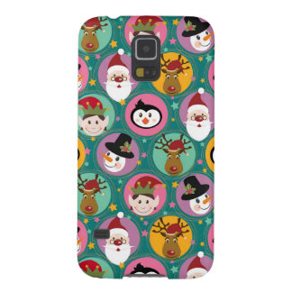 Christmas faces pattern galaxy s5 cover