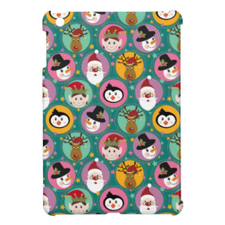 Christmas faces pattern iPad mini cover