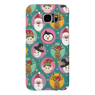 Christmas faces pattern samsung galaxy s6 cases