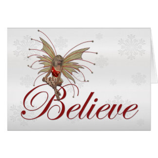 Christmas Faerie Believe 2 - Holiday Greeting Card