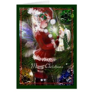 Christmas Faery and Angel Card