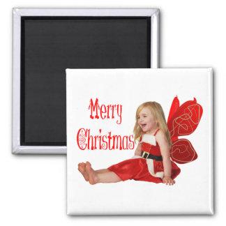 Christmas Faery Square Magnet