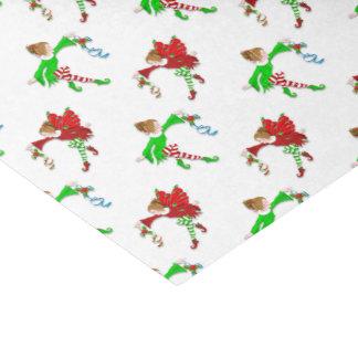 Christmas Fairies with Mistletoe Tissue Paper