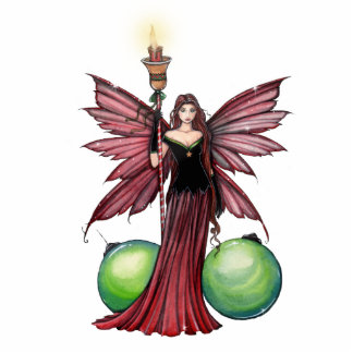 Christmas Fairy Ornament Photo Sculputure Cut Outs