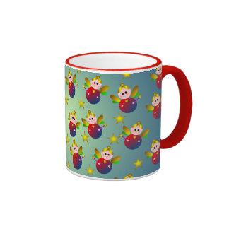 Christmas Fairy Pattern Coffee Mug