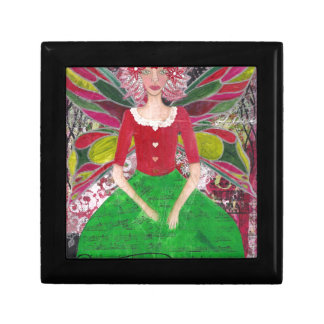 Christmas Fairy Small Square Gift Box