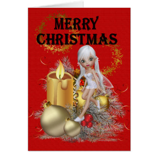 Christmas Fairy with Candles Card
