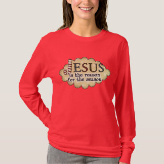 Christmas Faith Jesus Reason Season Ladies Shirt